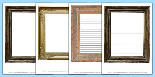 Picture Frame Photo Page Borders - photo, page, border, picture