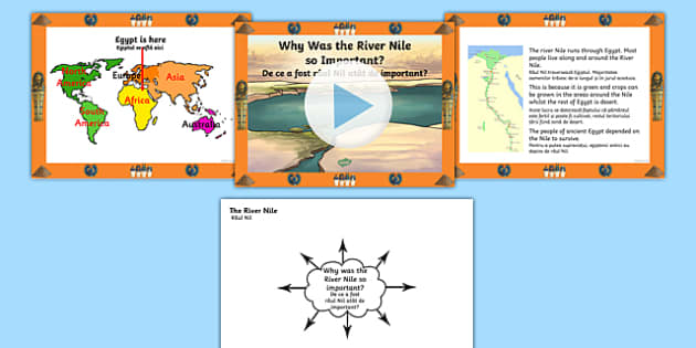 Ancient Egypt Why Was the River Nile So Important? PowerPoint and Worksheets Romanian Translation - romanian, egypt, ancient egypt, ancient egypt powerpoint, the nile, egypt worksheets