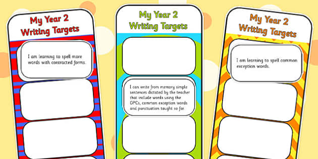 2014 Curriculum Y2 English Writing Assessment Bookmarks Cut Outs