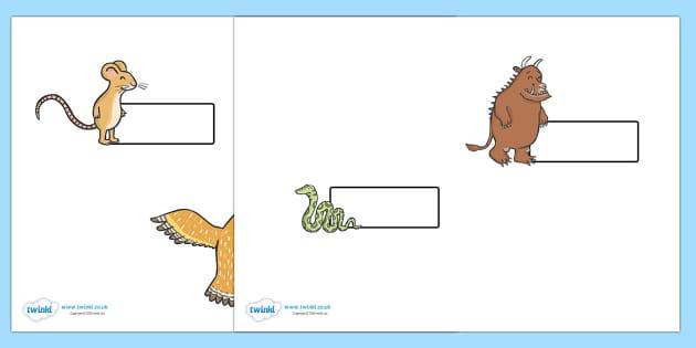 The Gruffalo Self Registration  - The Gruffalo, resources, mouse, fox, owl, snake, Gruffalo, fantasy, rhyme, story, story book, story book resources, story sequencing, story resources, self registration, register, attendance