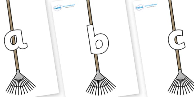 Phoneme Set on Garden Rakes - Phoneme set, phonemes, phoneme, Letters and Sounds, DfES, display, Phase 1, Phase 2, Phase 3, Phase 5, Foundation, Literacy