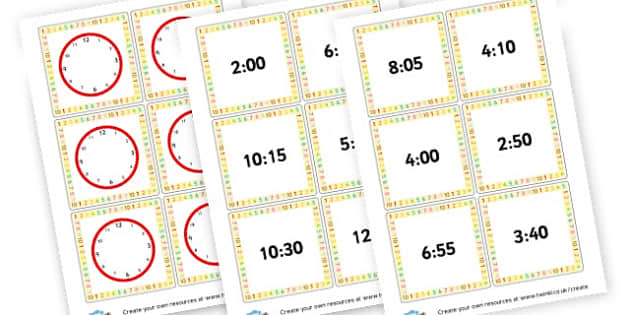 Clock Activity - Number, money and measure Time Primary Resources - Mathematics Nu