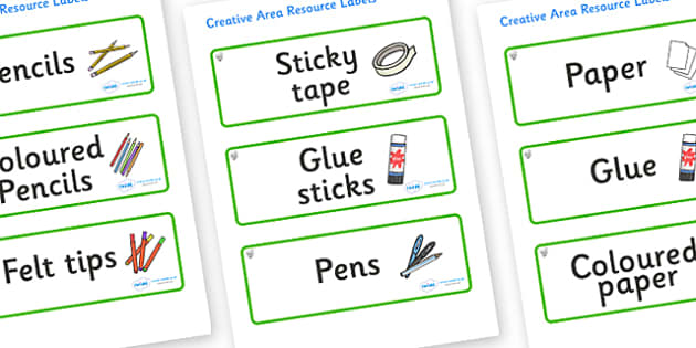 Hazel Tree Themed Editable Creative Area Resource Labels - Themed creative resource labels, Label template, Resource Label, Name Labels, Editable Labels, Drawer Labels, KS1 Labels, Foundation Labels, Foundation Stage Labels
