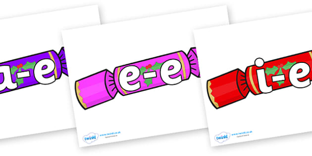 Modifying E Letters on Multicoloured Crackers - Modifying E, letters, modify, Phase 5, Phase five, alternative spellings for phonemes, DfES letters and Sounds