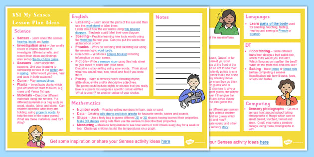 My Senses KS1 Lesson Plan Ideas - lesson plan, ks1, senses