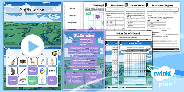 PlanIt Y3 SPaG Lesson Pack: Suffix -ation - planit, y3, spag, lesson pack, siffix, -ation