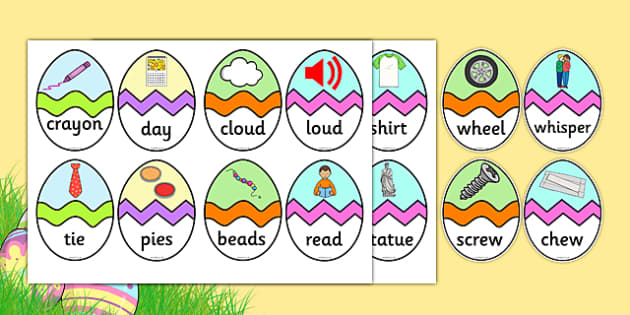 Phase 5 CVC Words Easter Egg Matching Activity - phase 5, phase, cvc, words, cvc words, easter egg, matching, activity, match, easter, egg
