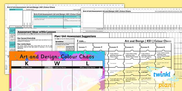 PlanIt - Art KS1 - Colour Chaos Unit Assessment Pack - planit, art, ks1, colour chaos, unit, assessment, pack
