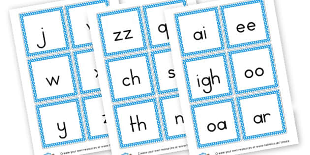 Phase 3 Sound Cards - Phase 3 Visual Aids Primary Resources, Phase One, Letters, sounds
