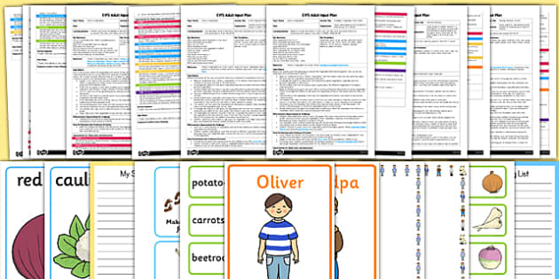 EYFS Adult Input Planning and Resource Pack to Support Teaching on Oliver's Vegetables