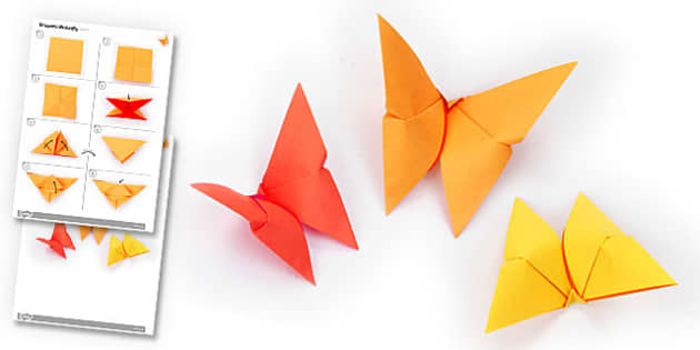 Origami Butterfly Activity - origami, butterfly, activity, paper