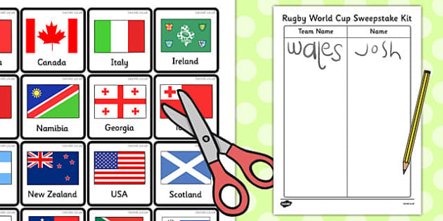 Rugby World Cup Sweepstake Kit - rugby world cup, sweepstake
