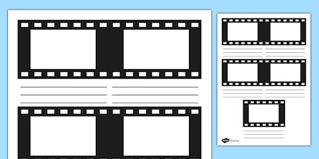 Film Strip Storyboard Template - film strip, storyboard, story board, template