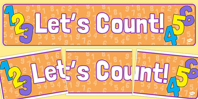 Let's Count Display Banner - lets count, display banner, display