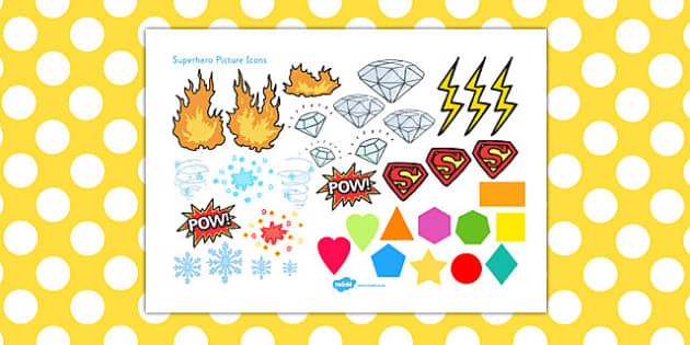 Superhero Picture Icons Resource - superhero, picture, icons, resource