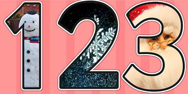 Christmas Themed Photo Display Numbers - christmas, numbers