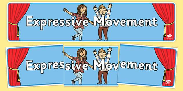 Expressive Movement Display Banner - expressive movement, expressive, movement, display banner, display, banner