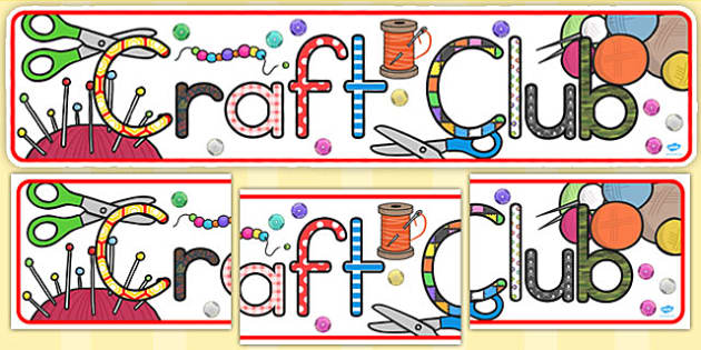 Craft Club Display Banner (Australia) - banners, displays, visual