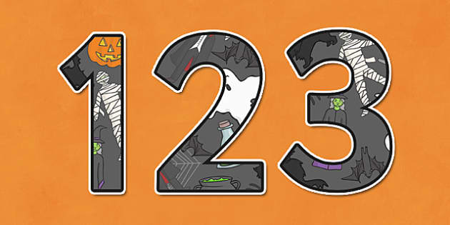 Halloween Themed A4 Display Numbers-halloween, themed, A4, display, numbers, display numbers, A4 numbers, halloween numbers, halloween display