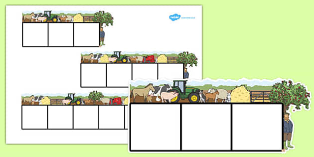 Farm Themed Phoneme Frames - farm, phoneme frames, letters, words, sounds