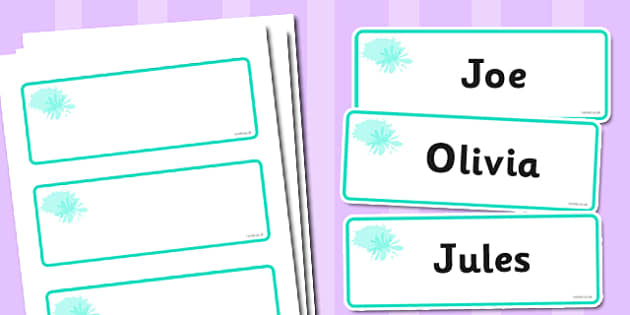 Turquoise Themed Editable Drawer-Peg-Name Labels (Blank) - Themed Classroom Label Templates, Resource Labels, Name Labels, Editable Labels, Drawer Labels, Coat Peg Labels, Peg Label, KS1 Labels, Foundation Labels, Foundation Stage Labels, Teaching La