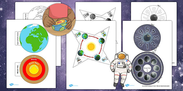 Science Earth and Space Interactive Visual Aids Resource Pack