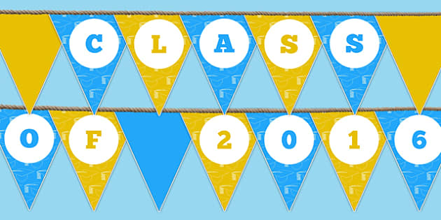 Class of 2016 Bunting - class of 2016, bunting, display bunting, display, 2016, school leavers