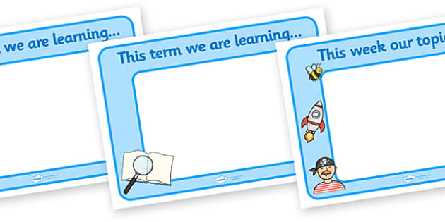 This Term/Month/Week Display Posters - display posters, topics posters, subjects posters, classroom posters, classroom planning posters