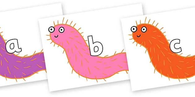Phase 2 Phonemes on Bristle Worm to Support Teaching on Sharing a Shell - Phonemes, phoneme, Phase 2, Phase two, Foundation, Literacy, Letters and Sounds, DfES, display
