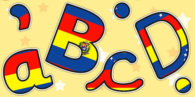 Venezuela Flag Themed Display Lettering - venezuela, letters