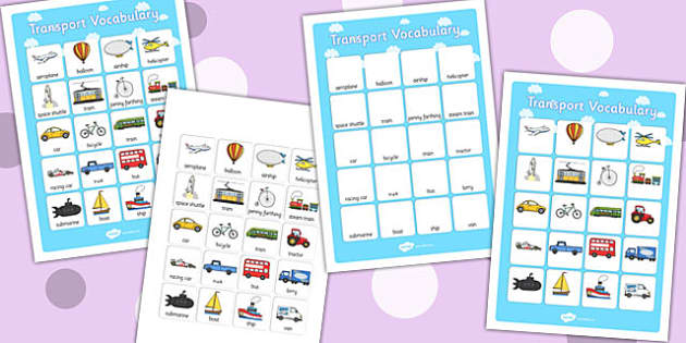 Transport Vocabulary Poster - transport, vocabulary, poster