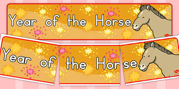 Year of the Horse Display Banner - australia, display, banner