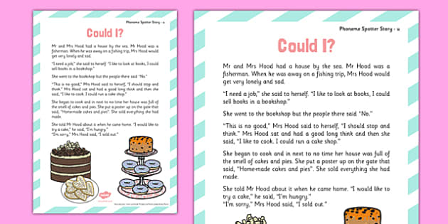 u Phoneme Spotter Story - Phase 5, alternative graphemes, phoneme, spotter, story, u