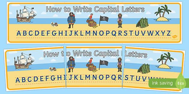 Alphabet Capitals Display Banner Pirates - alphabet, capitals, display banner, display, banner, pirates