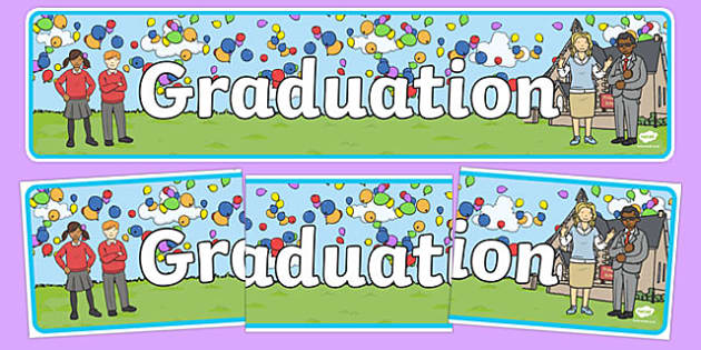 School Graduation Display Banner - graduation, display banner