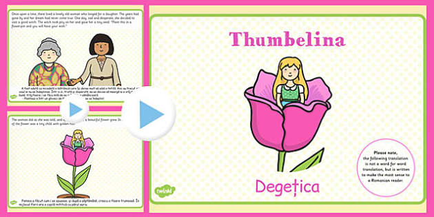Thumbelina Story PowerPoint Romanian Translation - romanian