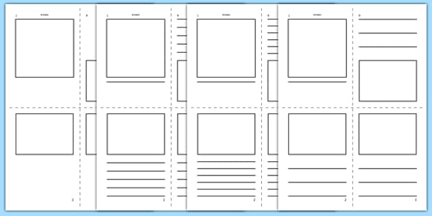 Mini Book Template  - mini book, booklet, template, templates, blank, books, mini-book, creative, how to make, create, your own