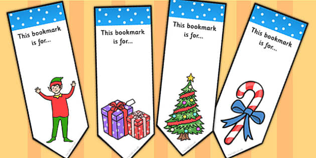 Elf Themed Bookmarks - elf, bookmarks, reading, read, christmas