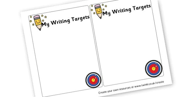 Writing Target Card - Numeracy Assessment and Targets Primary Resources, Assessment