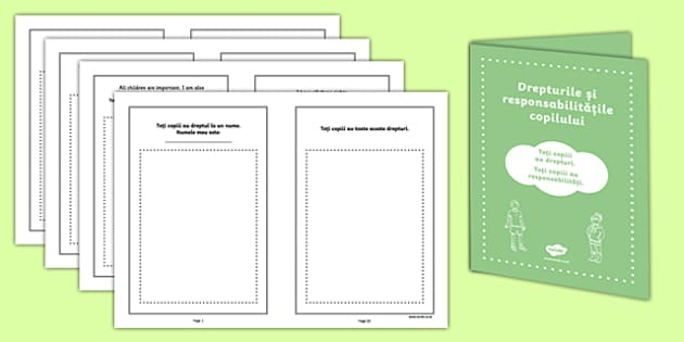 Rights of a Child Booklet Romanian - romanian, rights, child, booklet, ks2, phsce, pshe, rights of a child