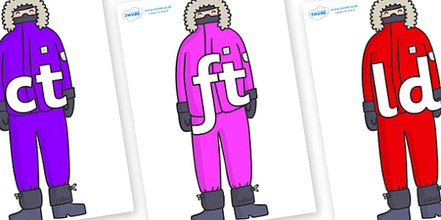 Final Letter Blends on Arctic Explorers - Final Letters, final letter, letter blend, letter blends, consonant, consonants, digraph, trigraph, literacy, alphabet, letters, foundation stage literacy