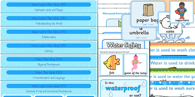 EYFS Water Lesson Plan Ideas - early years lessons, lesson ideas