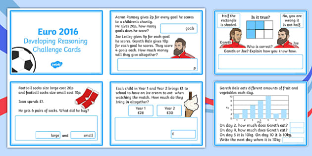 Developing Reasoning Through The Euro 2016 Championships Challenge Cards-Welsh