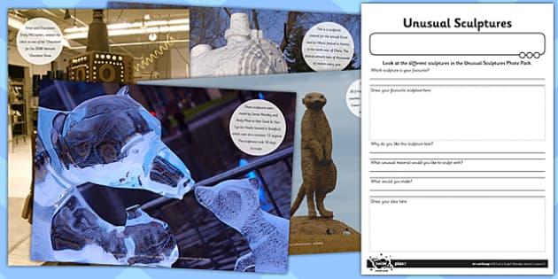 Activity Sheet Unusual Sculptures Unusual Sculptures Photo Pack, worksheet