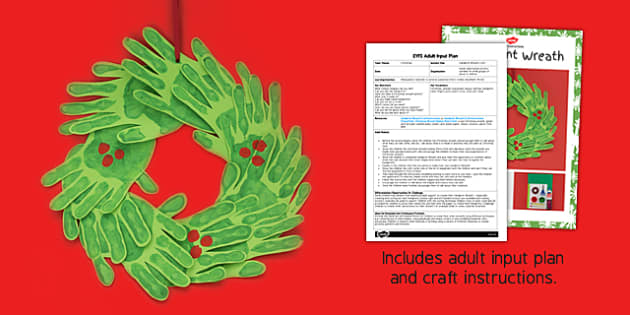Handprint Wreath Craft Adult Input Plan And Resource Pack - adult led, wreath