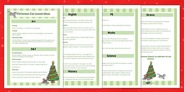 The Christmas Cat KS1 Lesson Ideas - mog, christmas cat, ks1, lesson, ideas