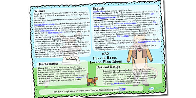Puss in Boots Lesson Plan Ideas KS2 - puss in boots, lesson plan, lesson plan idea, lesson ideas, lesson planning, teaching plan, KS2, key stage 2, ideas