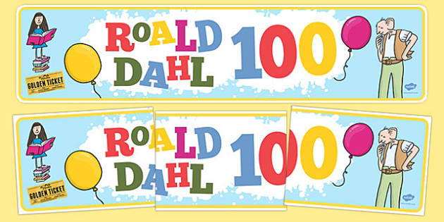 Roald Dahl 100 Display Banner