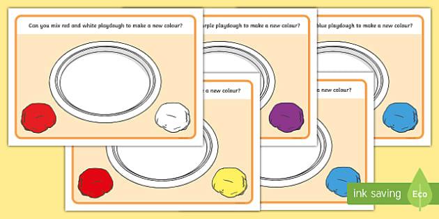 Mixing Colours Playdough Mats