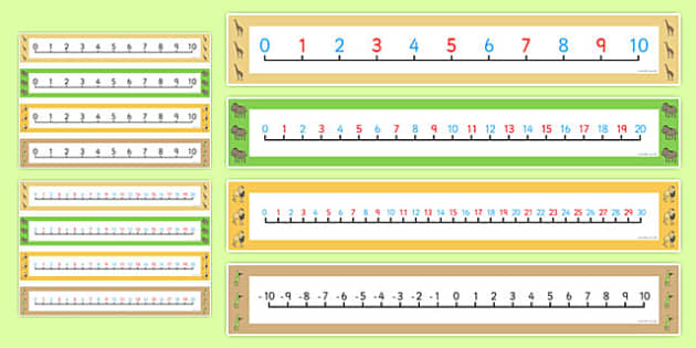 Dancing Giraffe Themed Number Lines Pack up to 30 - Giraffes Can't Dance, count, add, subtract, maths, EYFS, mathematics, jungle